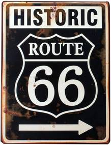 Placa Decorativa Historic Route 66