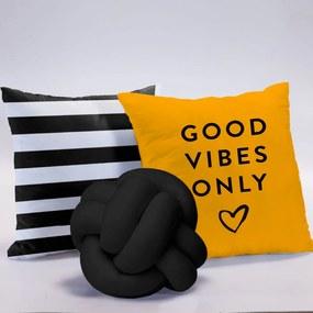 Coleção de Almofadas Mix de Estampas Good Vibes 03 Peças