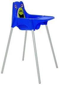 Cadeira para Refeição Infantil Tramontina Monster em Polipropileno Azul
