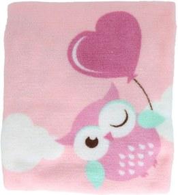 Manta Microfibra Confort Baby Hazime Taty Rosa