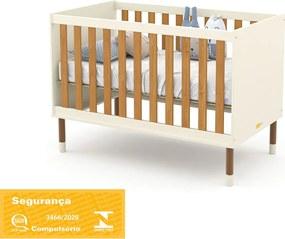 Berço Up Off White/Freijó/Eco Wood Matic Móveis
