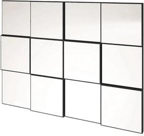 Quadro Espelho Block Medio 1,00 MT (LARG) cor Preto Brilho - 45043 Sun House