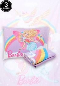 Jogo de Cama Solteiro Lepper Barbie Reinos Mágicos 3 Pçs Lilás 1,50 x 2,10