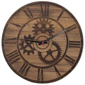Relógio Engrenagem de Madeira Maciça -