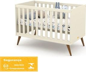 Berço Gold Off White/Eco Wood Matic Móveis