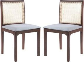 Kit 2 Cadeira Decorativa Sala de Jantar Steve Amêndoa - Gran Belo