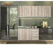 Cozinha Modulada 6 Peças 100% MDF Kali Premium 704968 Branco Arezzo Rustico Nicioli