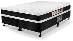 Cama Box king Casal Castor Espuma Black & White D45 AIR Double Face 193X203x60