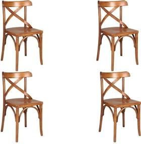 Kit 4 Cadeiras Decorativas Crift Carvalho Escovado - Gran Belo