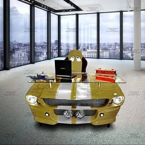 Mesa De Escritório Mustang Gold Edition