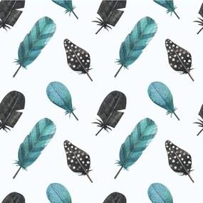 Papel De Parede Adesivo Penas De Aves (0,58m x 2,50m)