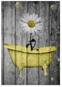 Quadro Decorativo Margarida na Banheira Amarela - KF 46451 40x60 (Moldura 520)