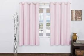 Cortina Rose Jordão Corta Luz Com Voal Para Varão Simples 3M Rosa