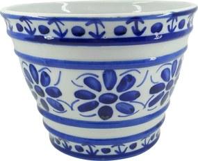 Vaso em Porcelana Azul Colonial 15 cm (com furo)