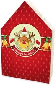 Totem Home de Madeira Natalino Rena Merry Christmas Único