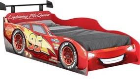 Cama Infantil Carros Disney com Aerofólio Vermelha - Pura Magia