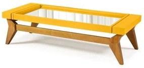 Mesa de Centro Crystal Cor Amendoa Com Amarelo - 29808 Sun House