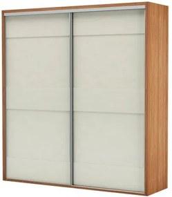 Armario Premium com 2 Portas e 2 Gavetas cor Freijo com Off White Brilho 2,23 MT (LARG) - 56456 Sun House