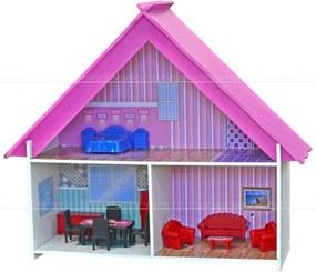 Casinha de Boneca Princesas Criança 631 Lyam Decor Branco e Rosa