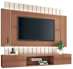 Painel Home Suspenso para TV até 55 Sala de Estar Shawn Off White/Nature - Gran Belo