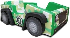 Cama Carro Infantil Jeep Exército  Verde