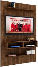 Painel de parede Leon MDP 15mm para TV até 44' com 02 Nichos Itaúba - MegaSul