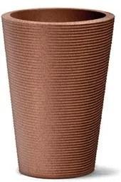 Vaso Plástico Nutriplan Riscatto Cônico 72 Ferrugem