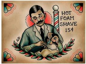 Placa Decorativa Para Barbearias Quyen Dihn barber And Patron