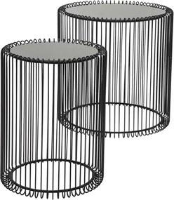 Conjunto de Mesas Lateral Máximus em Aço Carbono