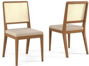 Cadeira Luana em Madeira Maciça C/Encosto de Tela Sintética