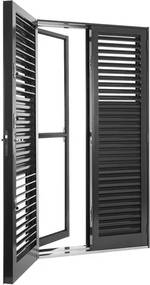 Porta Balcão de Aço de Abrir Multiflex Silenfort 4 Folhas 217x120x16 - Sasazaki - Sasazaki