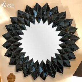 Espelho Veneziano c/ Moldura Preta 90cm