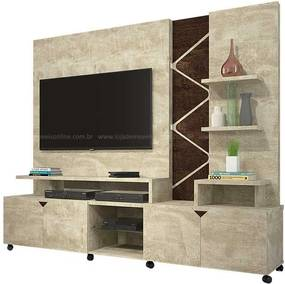 Estante Home Para Tv 55 Polegadas Cross Lukaliam Rovere/noce