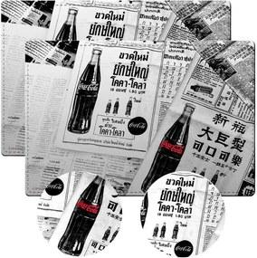 Conjunto 2 Jogos Americanos e 2 Porta-Copos Coca-Cola em Cortiça