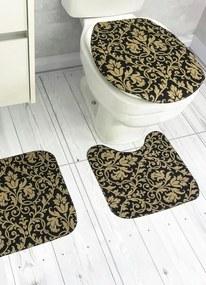 Jogo de Banheiro Arabesco Dourado 3 Peças