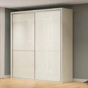 Guarda-roupa Ramon (L: 223cm) C/ 2 Portas De Correr 100% Mdf Off White
