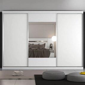 Guarda-roupa Marta C/ 1 Porta Espelhada 100% MDF Branco Acetinado