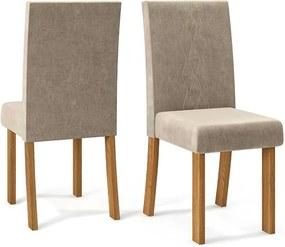 Conjunto 2 Cadeiras Elisa Carvalho Nobre Tecido Veludo Kraft