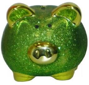 Cofre Real Arte Porco Glitter Verde
