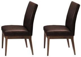 Conjunto 2 Cadeira Decorativa Luana Couríssimo Marrom