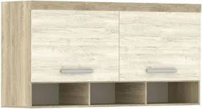 Armário Ponte Casal 167cm 201 Master 2 Portas Avelã Rústico/Ártico Rústico - Eucamóveis