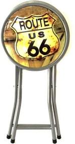 Banco Dobrável Route 66 Vintage