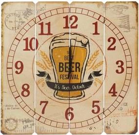 Relógio de Parede Best Beer em Madeira MDF - 40 cm