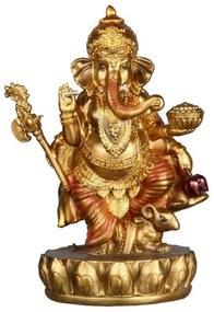 Deus Hindu Ganesh   Dourado e Vermelho