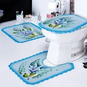 Jogo de Banheiro Crochê 03 Peças Laranja