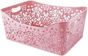 Cesto Organizador Retangular Tam. G Jacki Design Lifestyle Rosa
