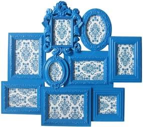 Porta-Retrato de Parede Barroque Frame Azul em Polipropileno - Urban