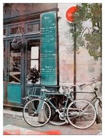 Quadro Decorativo Paisagem Urbana Bicicleta - KF 49602 40x60 (Moldura 520)