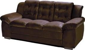 Sofá com Fibra no Assento e Encosto Granada 3 Lugares Tecido Suede Café - Umaflex