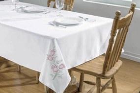 Toalha De Mesa Guga Tapetes Primavera 2,50X1,40 Branco/Pink